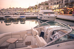 Puerto Banús I. (Adam Haranghy) Tags: street uk trip travel people holiday money english cars port marina puerto photography boot mercedes benz boat spain warm europa europe european harbour yacht urlaub arab journey porsche finepix saudi shops fujifilm jaguar expensive tones gibraltar andalusien lamborghini scenes luxury luxus malaga spanien puertobanus reise banus britisch x100