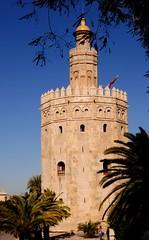 Torre del Oro ( Golden Tower) Seville, Spain (-Reji) Tags: tower history del reflections river golden guadalquivir torre n landmark seville prison moorish moors dynasty oro nkon spai d90 almohades spainvisit rejik february2012