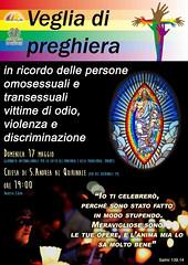Veglia di preghiera per le vittime di Omofobia e Transfobia 2015