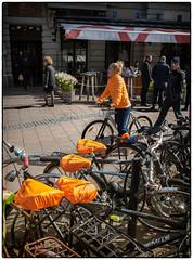 Orange (stejo) Tags: orange stockholm streetphoto cykel stureplan sadel cycel cykelsadel ilobsterit