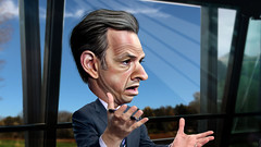 Jake Tapper - Caricature (DonkeyHotey) Tags: news art face photomanipulation photoshop photo reader political politics cartoon manipulation host cnn politician abc campaign commentary stateoftheunion politicalart politicalcommentary jaketapper donkeyhotey jacobpaultapper