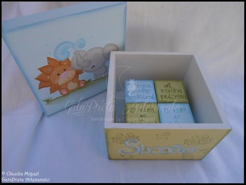 """Caixa de recordações de bebé """"Savanah Friends"""""""