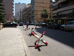 Everywhere in Beirut you have these obsticales to have more controll over vehicles coming in and out of different locations!