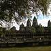 Angkor Wat vista entre las ramas
