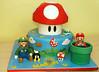 Mario cake (Little Sunflower Cake Co) Tags: world mushroom cake super mario luigi supermario