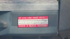 if you can read this.. thank a music teacher (timp37) Tags: bumber sticker 2016 september thank music teacher if you can read this