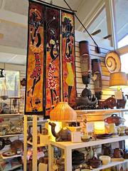 Inside a 10,000 Village shop.   Explore#489 (snow41) Tags: shop crafts art tenthousandvillages montreat gifts orange explore