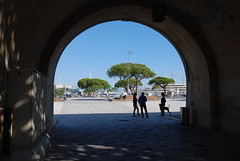 Archway in thr old town walls to Port Vauban, Antibes, France. (Roly-sisaphus) Tags: southoffrance cotedazure frenchriviera mediterranean antibes nikond802016dsc1091