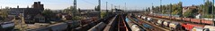 Ferencvros station pano (to west) (Gbor Timr) Tags: railroad station panorama budapest ferencvros tracks locomotive engine