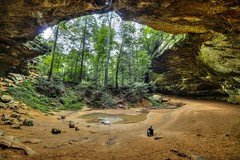 Contemplation (Notkalvin) Tags: contemplate think nature cave outdoor notkalvin mikekline notkalvinphotography ashcave hockinghills stone opening trees forest hike lonefigure alone justme one solo sittingandthinking thinking