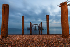 Brighton Pier (kevin.smith.photo) Tags: brightonpier brighton beach longexposure lowlight foreboding decay skeletal industrial carcass brightonseafront seafront