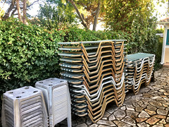 Stacked (RobW_) Tags: sunbeds stacked freddiesbar tsilivi zakynthos greece wednesday 12oct2016 october 2016