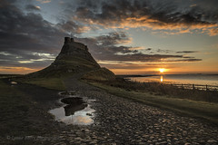 DOUBLE TAKE (lynneberry57) Tags: sunrise lindisfarne holyisland northumberland canon 70d leefilters seascape landscape nature sky clouds colour water sea sun castle coast northeast reflections beauty light flickr