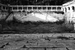 Step well at SitaRamachandra Temple, Ammapalli, Hyderabad (Rajan Raju) Tags: blackandwhite well hyderabad