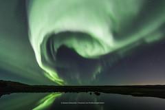 The eye in the sky. (Kjartan Guðmundur) Tags: iceland ísland auroraborealis northernlights nocturne nordlys polarlict zorzapolarna pond reflection stars sky canon canoneos5dmarkiv tokinaatx1628mmf28profx kjartanguðmundur arctic photoguide ngc top20aurora