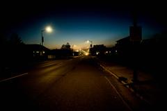 Misty Washburn Evening (Jeremy Oswald) Tags: led street lights washburn wisconsin dusk road atmosphere