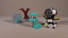 Steve and a Mixel (Busted.Knuckles) Tags: home toys minecraft steve lego mixel canonsl1