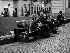 Dog (DanieleS.) Tags: photo photography shot wow amazing cool great good dannyboy ilovedannyboy daniele torino italy italia turin people city urban fall black white bianco nero blackandwhite mono bw monochrome streetphotography street fotografia di strada