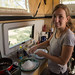 Preparando tapioca