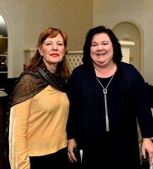 Alumnus Erin Corrigan (right) with Louise Baldwin