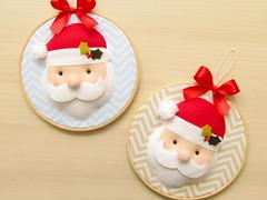 Quadrinhos Papai Noel (Daniella (Cores e Panos)) Tags: papainoel natal christmas decoração feitoamão feltro felt tecido chevron bastidor enfeitedenatal