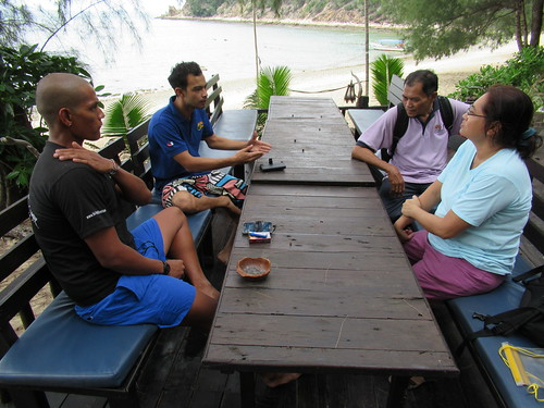 Discussion with Rimba Resort Manager