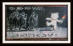 The Mild Mild West (zweiblumen) Tags: banksy themildmildwest streetart graffiti stokescroft bristol england uk canoneos50d canonef50mmf14usm polariser photoshopcs4 zweiblumen thepeoplesrepublicofstokescroft