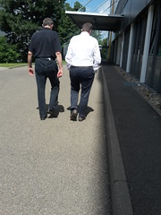 Mr. Perfect - Back to work 01 (TBTAOTW2011) Tags: hidden camera candid photo businessman business man men walking feet foot loafer loafers leather shoe shoes socks pants grey gray daddy dad mature belly sole
