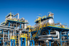 Oil and gas industry (codywinters1) Tags: white blue design high sky business equipment metal environment liquid plant oil energy natural steel industrial power supply technology machine modern heavy smoke industry tower ecology pressure work heat tube fuel chemical skyline pollution production top iron alternative engineering gasoline chemistry pipe gas manufacture factory process installation refinery petroleum petrol