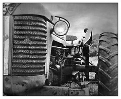Massey Ferguson 65 Tractor (Ebanator) Tags: masseyferguson masseyfergusontractor mamiyac220 mamiyac220tkr mamiyasekor8028bledot mamiya8028 tlr solatizedprint vintagetractor vintagefamrmequipment masseyferguson65