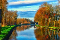 De vaart (peterkleeren) Tags: indian summer landscape canal vaart kanaal dessel schoten nikon d3300