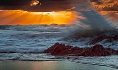 vague Bilbao (Marc ALMECIJA) Tags: 2010 582010 espagne euskadi vawes vaue sun sunset sunrise orange