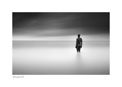 Alone (AKG37) Tags: anthonygormley another place bw mono monochrome longexposure seascape isolation