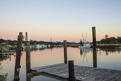 (itsbrandoyo) Tags: mcclellanville fishing village historic waterfront shrimpboat shrimpboats dock docked calm serene beautiful nature lowcountry charleston sunset tidal
