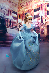 Eden Lead Singles as Cinderella (ArLekin26113) Tags: eden leadsingles cinderella fashionroyalty fashiondoll integrity jasonwu nuface fairytale disney cartoon princess bluedress crystalshoe shoe stairs
