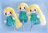 pencil toppers (sugarelf) Tags: elsa disney character pencil crochet doll amigurumi princess snowqueen cute handmadebyme