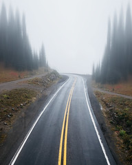 Augmented Roads (Alexander Tran | atranphoto.com) Tags: mount rainier national park nps100 goparks findyourpark atran atranphoto atranfoto pnw washington wa wash fog foggy rainy road fuji fujifilm fujifilmxus xt1