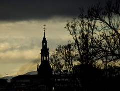 """Oslo Dom (Vidar """"the Viking"""" Ringstad, Norway) Tags: winter cold church dom sky clouds cloudy old veteran historic tower silouette bush horizon bird oslodom canoneos5dmkiii zoom oslo norwegen norge norway"""