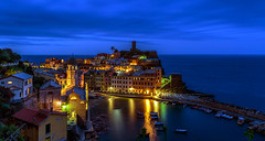 Vernazza (PokemonaDeChroma) Tags: vernazza liguria italy twilight fishingvillage fivelands cinqueterre long exposure leebigstopper canon6d canonef24105mmf3556isstm