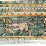 wonderen der oudheid II,1925 ill  Susa Darius Paleis leeuwen relief