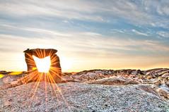 We Were Here (ScottieO23) Tags: sunrise novascotia granite peggyscove inukshuk hdr