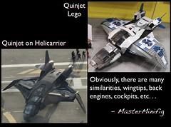 Quinjet Similarities! (MasterMinifig) Tags: lego plastic avengers 2012 similarities quinjet masterminifig quinjetaerialbattle