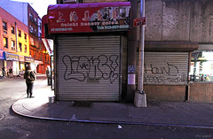 (Into Space!) Tags: street city urban ny newyork graffiti photo tag hound tags lions graff throw throwie rolldown intospace kosby intospaces