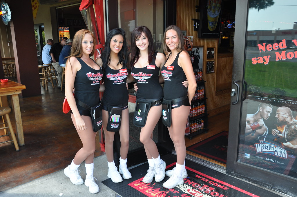 Winghouse Girls Greet You At The Door (hootervillefan) Tags: House Black  Sexy Uniform