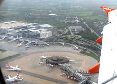 Gatwick Airport aerial view 2012 (WlNGS) Tags: uk london plane airplane airport aerialview aeroporto aeroplane flughafen flugzeug aeroport aeropuerto airliner avion virginatlantic lgw satelliteterminal aéroport gatwickairport northterminal egkk londongatwickairport