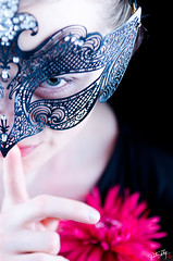 Shhhh... it is a Secret. (ung_peter) Tags: lighting light portrait flower eye girl face metal photography photo model nikon soft mask bright box finger secret peter softbox ung d7000 nikond7000 peterung ungpeter