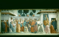Resurrection of the Son of Theophilus and Saint Peter Enthroned (Ellis Art History) Tags: religious florence italian fresco renaissance masaccio 15thcentury brancacci quattrocento italianrenaissance ellisarthistory