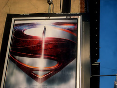 Man of Steel - New Superman Billboard theater Poster 0328 (Brechtbug) Tags: street new york city nyc blue red man work dark comics painting movie poster square book dc paint theater comic near steel character alien bat working broadway s superman billboard advertisement adventure hero superhero billboards knight worker shield times insignia krypton 46th 2013