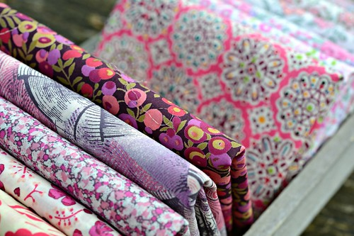 Liberty fabrics - pink and purple