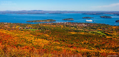 Acadia in Fall (TomNC) Tags: ocean park cruise blue red orange mountain tree fall yellow bar harbor maple maine foliage national acadia
